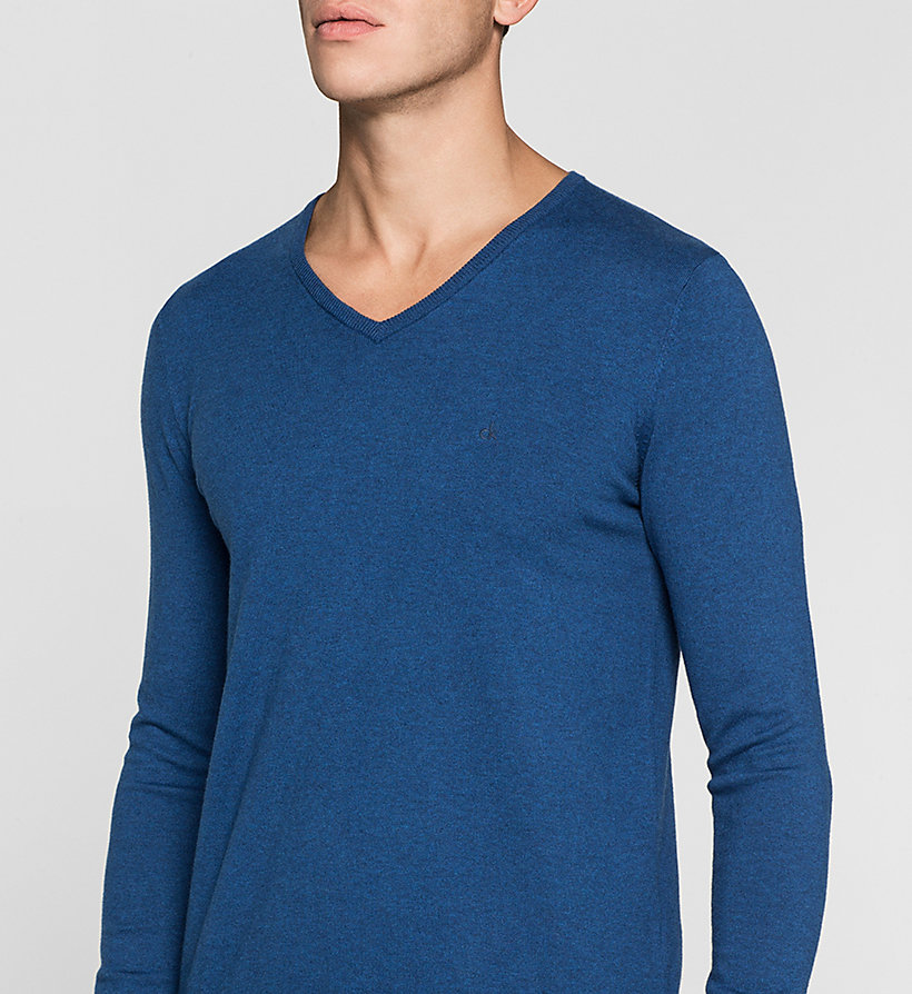 CKJEANS Cotton Stretch Sweater - MONACO BLUE - CK JEANS JUMPERS - detail image 2