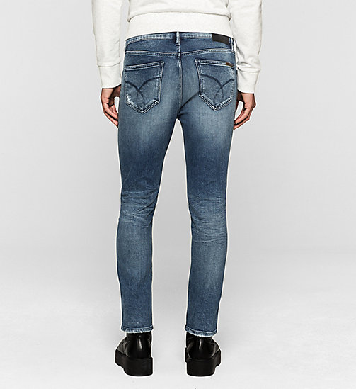 CALVIN KLEIN JEANS Sculpted Slim Ankle Jeans - BANG ON BLUE - CK JEANS CLOTHES - detail image 1