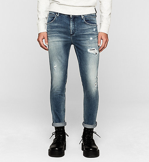 CALVIN KLEIN JEANS Sculpted Slim Ankle Jeans - BANG ON BLUE - CK JEANS CLOTHES - main image