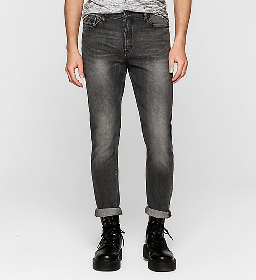 CALVIN KLEIN JEANS Regular Tapered Jeans - BLACK TORNADO - CK JEANS CLOTHES - main image