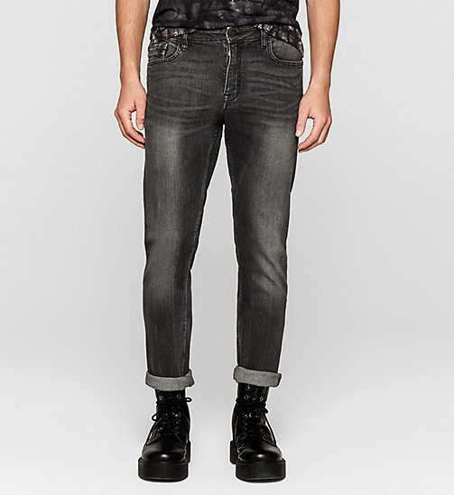 CKJEANS Slim Straight Jeans - BLACK TORNADO - CK JEANS Up to 50% - main image