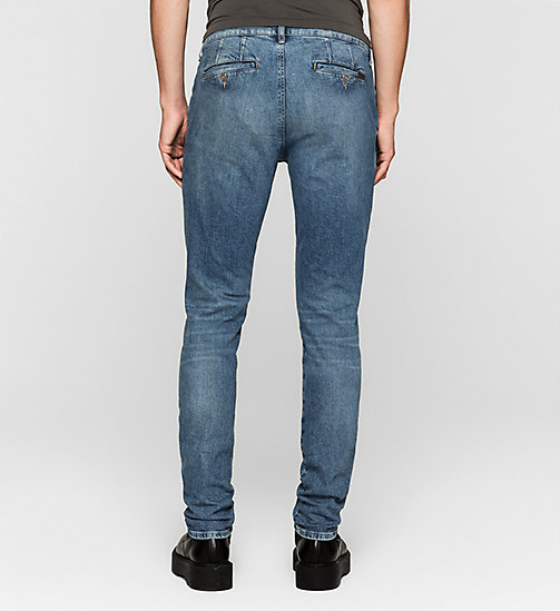 CALVIN KLEIN JEANS Regular Denim Chinos - BLUE RIDDIM - CK JEANS CLOTHES - detail image 1