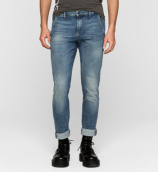 CALVIN KLEIN JEANS Regular Denim Chinos - BLUE RIDDIM - CK JEANS CLOTHES - main image