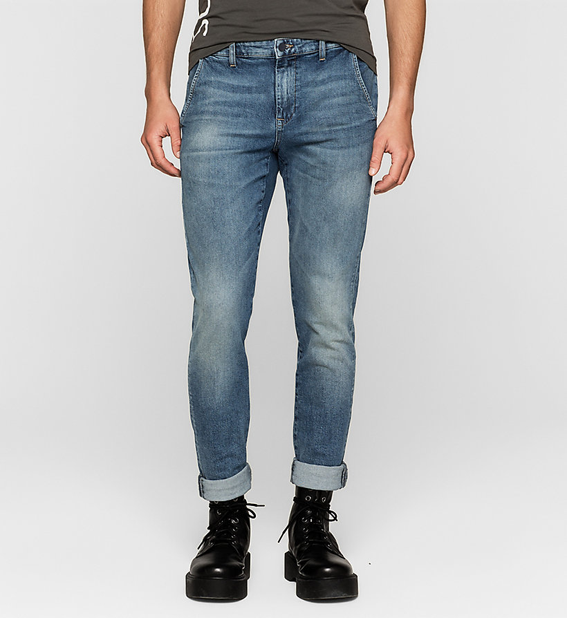 CKJEANS Regular Denim Chinos - BLUE RIDDIM - CK JEANS CLOTHES - main image
