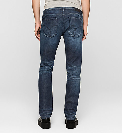 CALVIN KLEIN JEANS Slim Straight Selvedge Jeans - SELVEDGE BLUE DIAMOND - CK JEANS CLOTHES - detail image 1