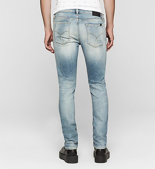CALVIN KLEIN JEANS Slim Straight Selvedge Jeans - SELVEDGE CASPIAN SEA - CK JEANS CLOTHES - detail image 1