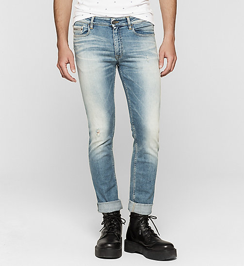 CALVIN KLEIN JEANS Slim Straight Selvedge Jeans - SELVEDGE CASPIAN SEA - CK JEANS CLOTHES - main image