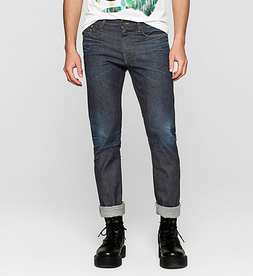 Slim Straight Selvedge Jeans - SELVEDGE RESIN RINSE - CK JEANS  - main image