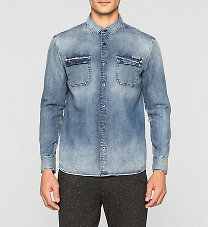 CALVIN KLEIN Regular Denim Shirt J30J304941912