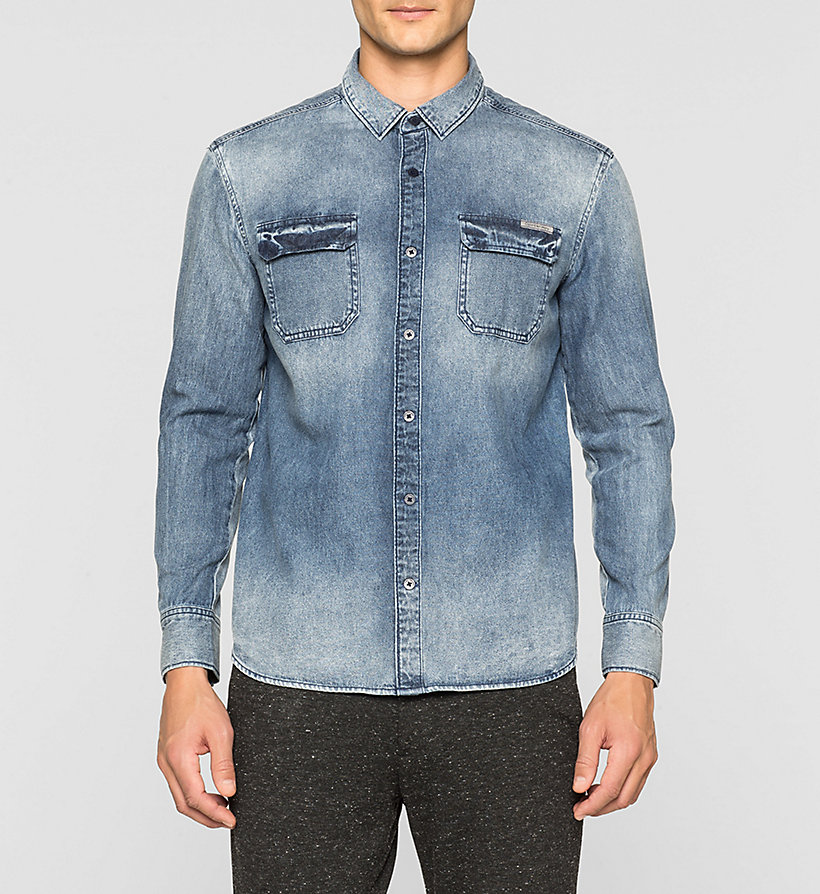 CKJEANS Regular Denim Shirt - WAVY - CK JEANS SHIRTS - main image