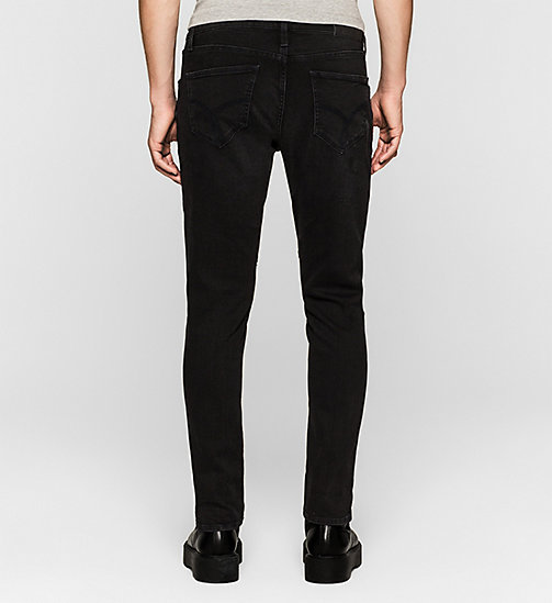 Sculpted Slim Biker Ankle Jeans - BLACKOUT - CK JEANS  - detail image 1