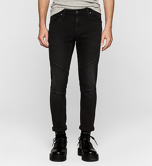 Sculpted Slim Biker Ankle Jeans - BLACKOUT - CK JEANS JEANS - main image