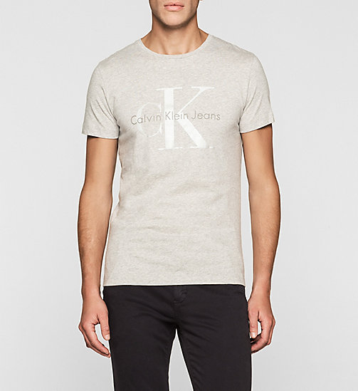 Camiseta regular con logo - LIGHT GREY HEATHER BC04 - VOL39 - CK JEANS CAMISETAS - imagen principal