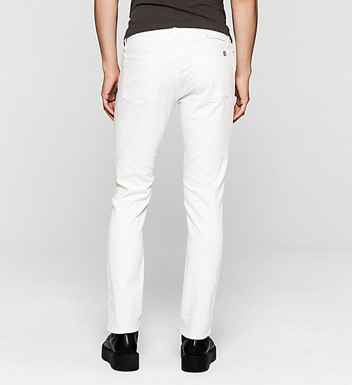 Slim Straight Jeans - INFINITE WHITE - CK JEANS  - detail image 1