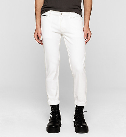 CKJEANS Slim Straight Jeans - INFINITE WHITE - CK JEANS Up to 50% - main image