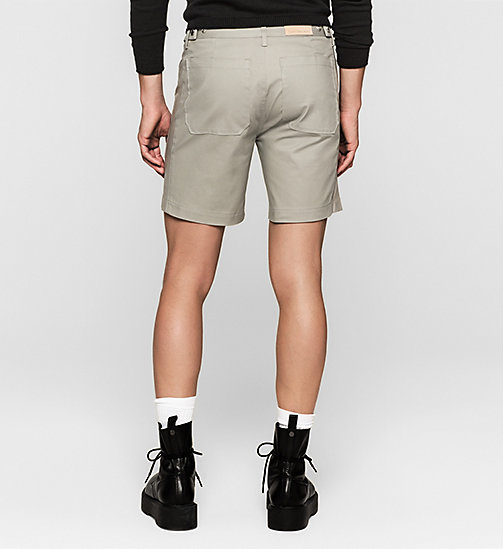 Leather-Panelled Shorts - MOURNING DOVE - CK JEANS SHORTS - detail image 1