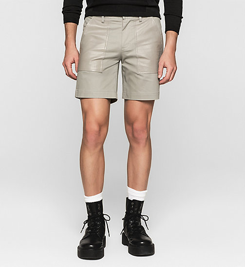 Leather-Panelled Shorts - MOURNING DOVE - CK JEANS SHORTS - main image