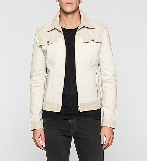 Suede-Panelled Trucker Jacket - MOONSTRUCK - CK JEANS JACKETS - main image