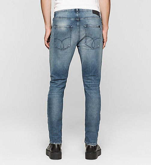 Regular Tapered Jeans - BLUE RIDDIM DESTRUCTED - CK JEANS JEANS - detail image 1