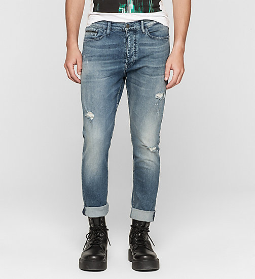 Regular Tapered Jeans - BLUE RIDDIM DESTRUCTED - CK JEANS  - main image