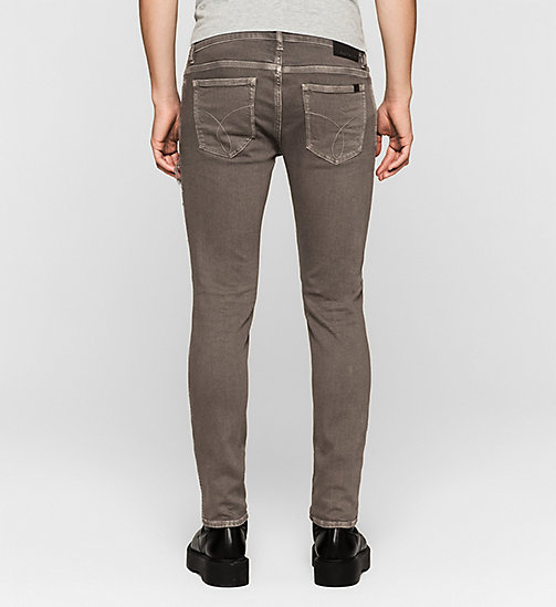 Destructed Skinny Ankle Trousers - BRUSHED NICKEL - CK JEANS TROUSERS - detail image 1