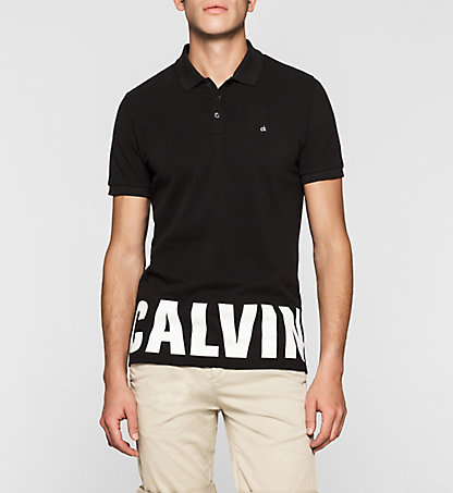 CALVIN KLEIN JEANS Fitted Cotton Piqué Polo J30J305054099