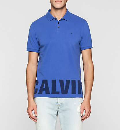 CALVIN KLEIN JEANS Fitted Cotton Piqué Polo J30J305054406