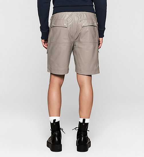 Leather Cargo Shorts - SMOKE GRAY - CK JEANS  - detail image 1