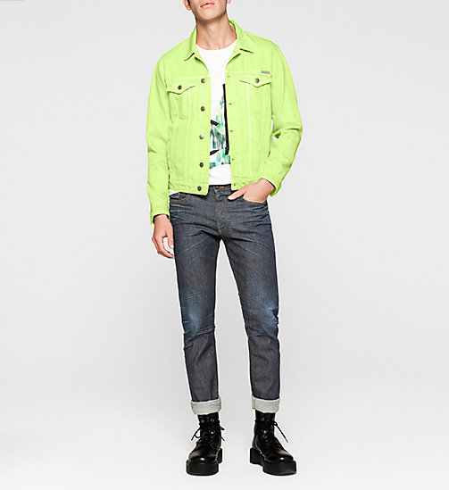 CALVINKLEIN Denim Trucker Jacket - SHARP GREEN - CK JEANS OUTERWEAR - detail image 1