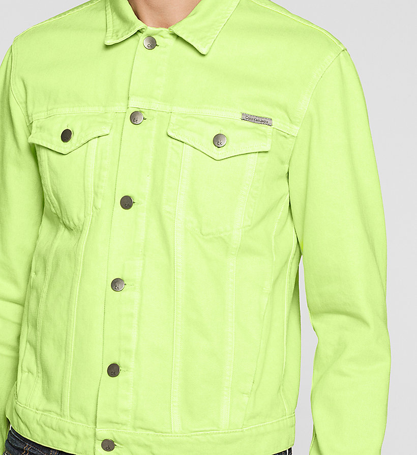 CKJEANS Denim Trucker Jacket - SHARP GREEN - CK JEANS OUTERWEAR - detail image 2