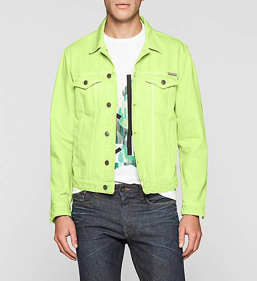 CALVINKLEIN Denim Trucker Jacket - SHARP GREEN - CK JEANS OUTERWEAR - main image