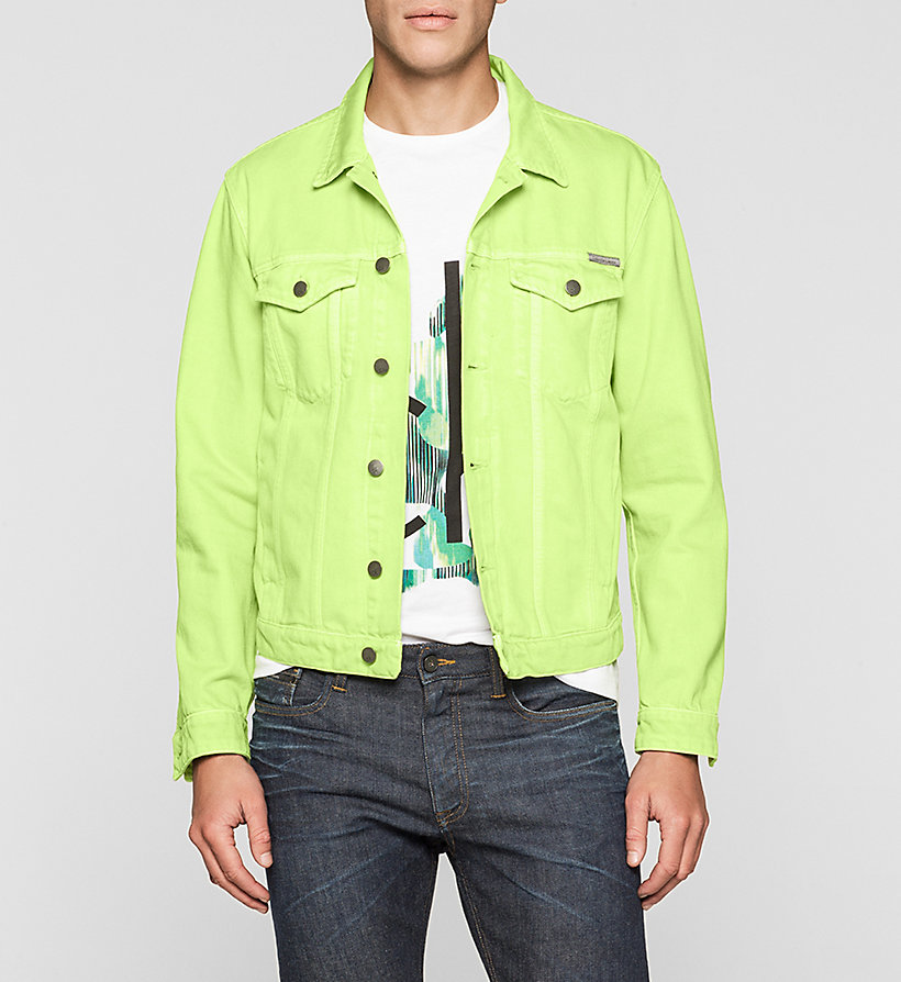 CKJEANS Denim Trucker Jacket - SHARP GREEN - CK JEANS OUTERWEAR - main image
