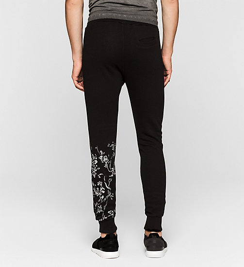 Embroidered Sweatpants - CK BLACK - CK JEANS TROUSERS - detail image 1