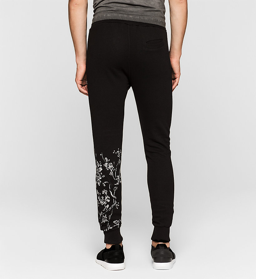 CKJEANS Embroidered Sweatpants - CK BLACK - CK JEANS TROUSERS - detail image 1