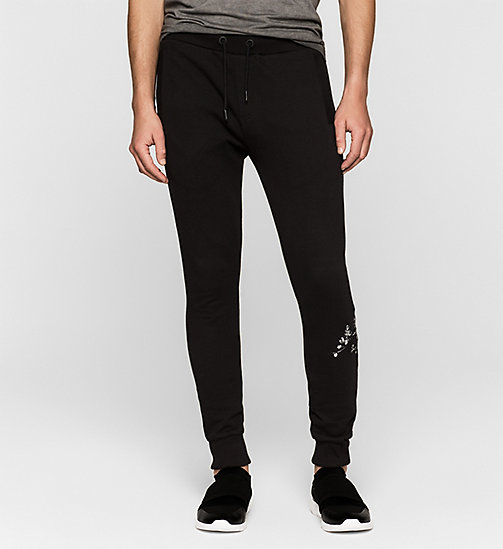 Embroidered Sweatpants - CK BLACK - CK JEANS TROUSERS - main image