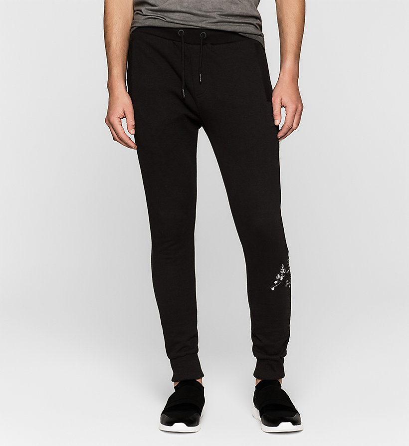 CKJEANS Embroidered Sweatpants - CK BLACK - CK JEANS TROUSERS - main image