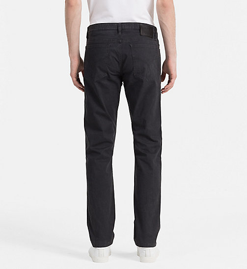 Slim Straight Trousers - CK BLACK - CK JEANS  - detail image 1