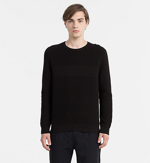 Textured Stripe Sweater - CK BLACK - CK JEANS JUMPERS - main image