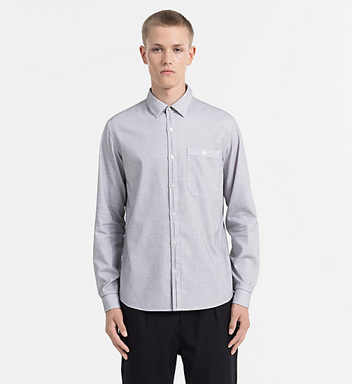 Slim Check Dobby Shirt - BRIGHT WHITE / CK BLACK - CK JEANS  - main image