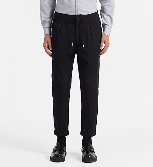 Material Mix Sweatpants - CK BLACK - CALVIN KLEIN JEANS  - main image