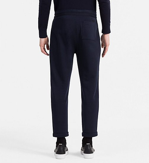 CALVIN KLEIN JEANS Material Mix Sweatpants - NIGHT SKY - CALVIN KLEIN JEANS JOGGING BOTTOMS - detail image 1