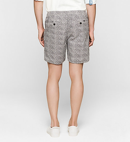 CKJEANS Regular Sporty Shorts - BRIGHT WHITE / PHANTOM - CK JEANS SUMMER SHOP FOR HIM - detail image 1
