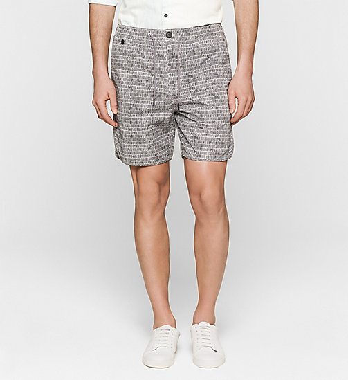 CKJEANS Regular Sporty Shorts - BRIGHT WHITE / PHANTOM - CK JEANS SUMMER SHOP FOR HIM - main image