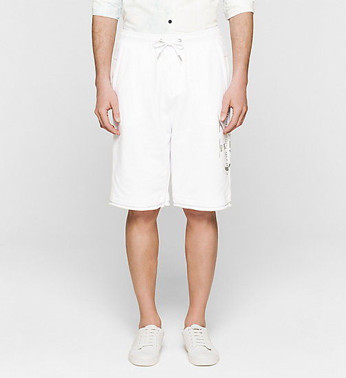 Logo Sweat-Shorts - BRIGHT WHITE - CK JEANS SHORTS - main image