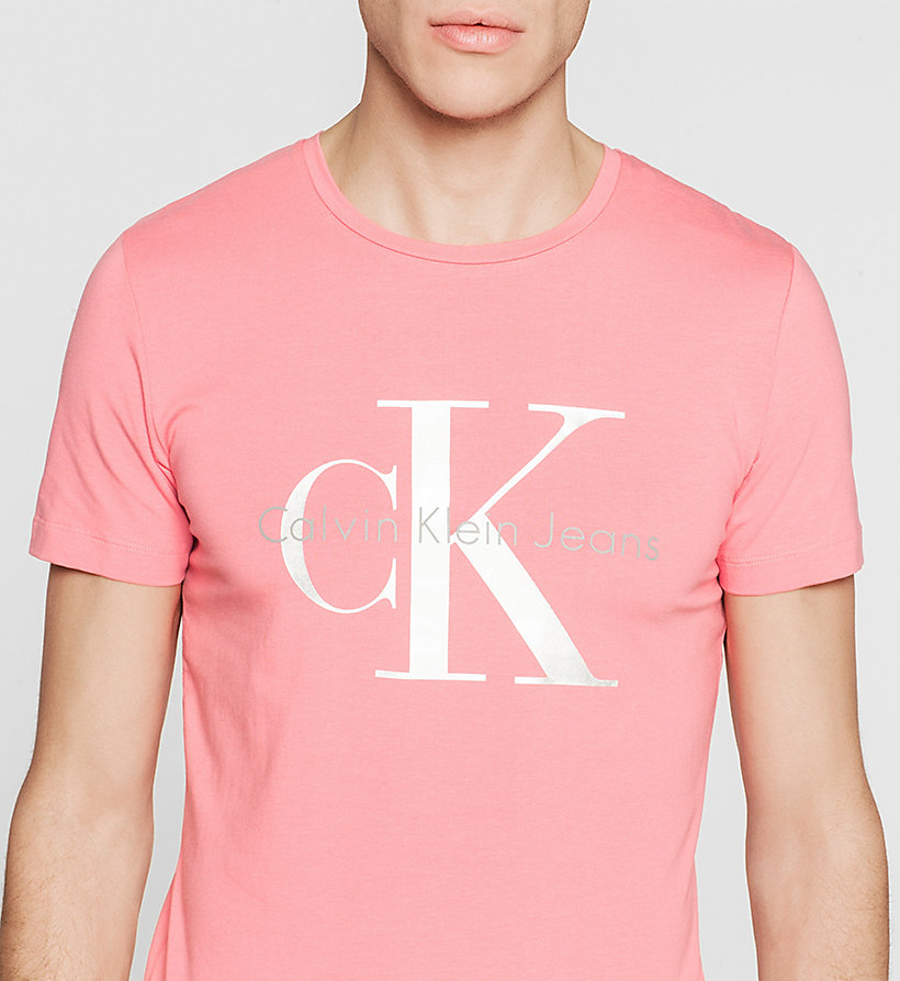 CKJEANS Slim Logo T-shirt - CLARE RED WASHED - CK JEANS T-SHIRTS - detail image 2