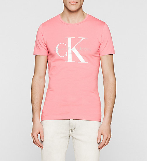 CKJEANS Slim Logo T-shirt - CLARE RED WASHED - CK JEANS T-SHIRTS - main image