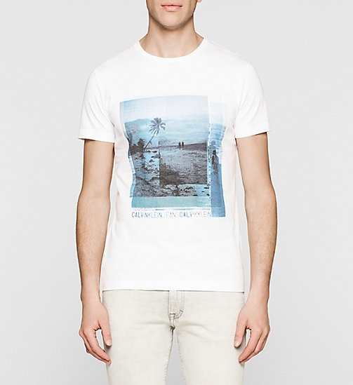 CKJEANS Regular Printed T-shirt - BRIGHT WHITE - CK JEANS SUMMER SHOP FOR HIM - main image