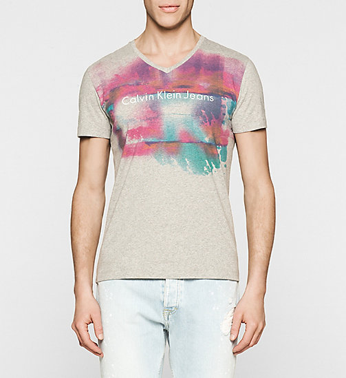 CKJEANS Regular Logo T-shirt - LIGHT GREY HEATHER - CK JEANS SUMMER SHOP FOR HIM - main image