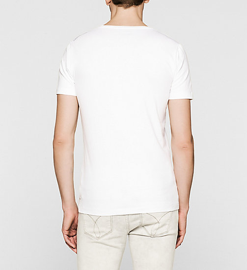 Slim Logo T-shirt - BRIGHT WHITE - CK JEANS CLOTHES - detail image 1