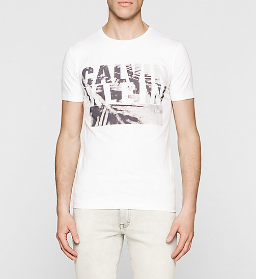 CKJEANS Slim Logo T-shirt - BRIGHT WHITE - CK JEANS SUMMER SHOP FOR HIM - main image